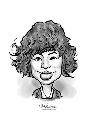 digital caricature for eBay - Kim, Tae Eun