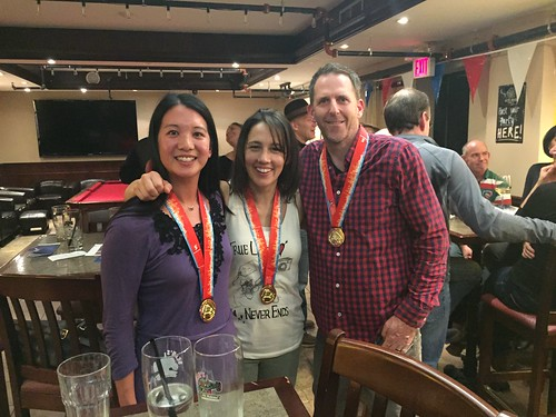 Mei, Dara and Brian with their medals.