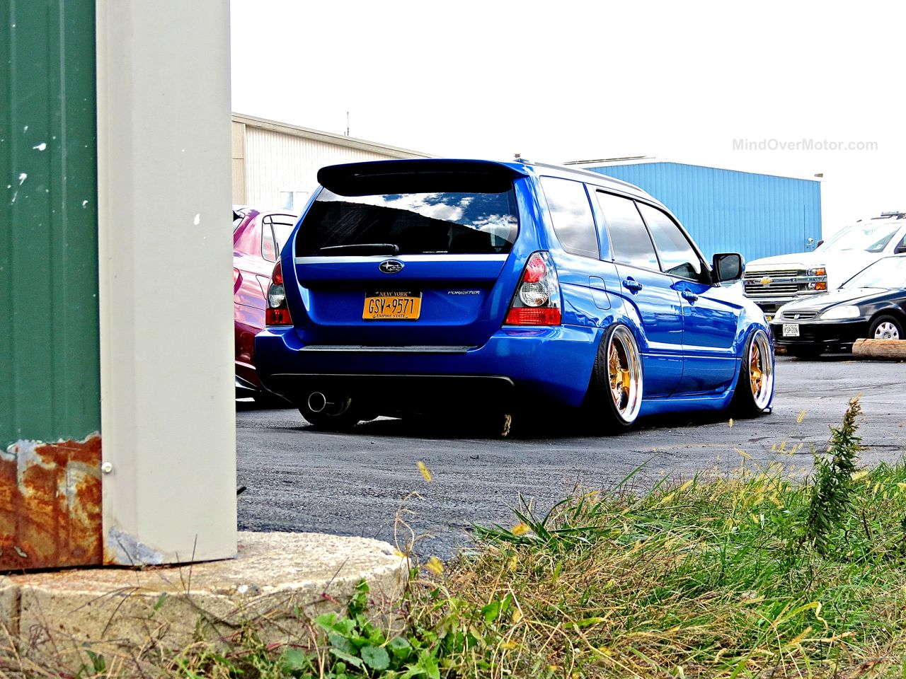 First Class Fitment Blue Subaru Forester XT Stance
