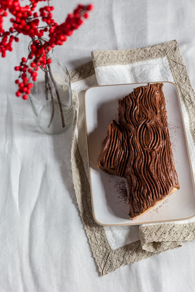 Chestnut And Ricotta Yule Log