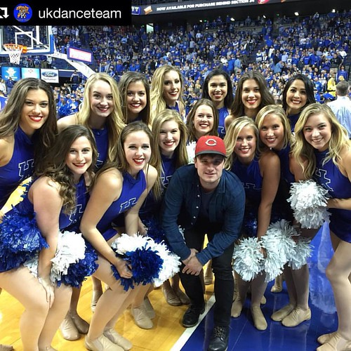 It's true, #PeetaLovesTheCats! Fresh off a worldwide tour of premieres for @thehungergames #MockingjayPart2, actor Josh Hutcherson found time to cheer his Wildcats to victory last night at @rupp_arena with the @ukdanceteam.