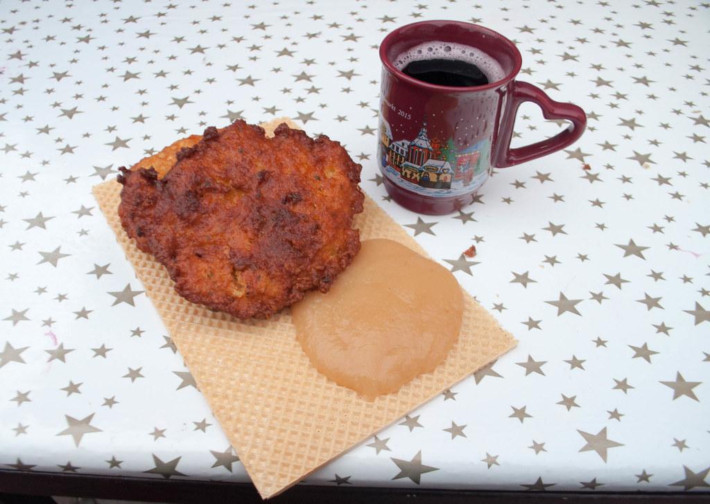 Potato Pancakes and Applesauce. Heidelberg Christmas Markets - Heart of Germany Christmas Market Cruise with Viking River Cruises, Dec. 2015