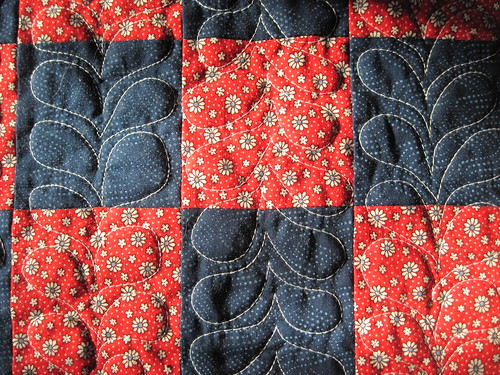 Free Motion Quilting-end of quilting session