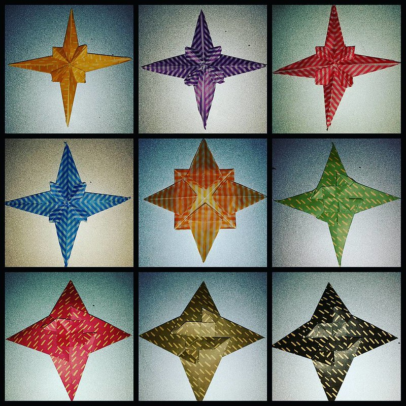Look at the stars. Look how they shine for you...#origami #stars #starrynight #coldplay #christmas #ornaments