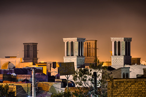 people building night persian scenery downtown iran towers middleeast places nighttime iranian urbanlandscape yazd yazdprovince yazdprovinced