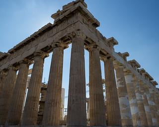 Attēls no Parthenon pie Atēnas. athens nikon ruins d3s buildings greece construction acropolis parthenon athina atticaregion gr