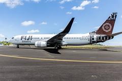 #FJ230 taxiing onto #RWY 09 at #bonrikiairport #tarawa #kiribati #boeing #b737 #aviation @fly_fijiairways #fijiairways