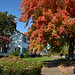 Barber House Fall Color by thoeflich