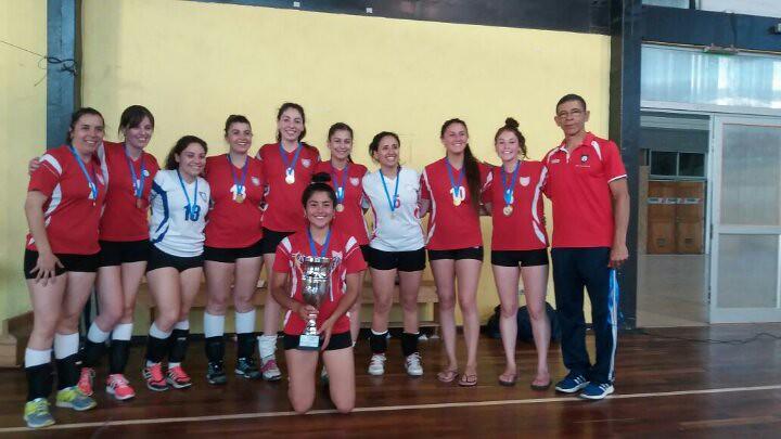 Voleibol damas revalidó su título de la Liga Sur