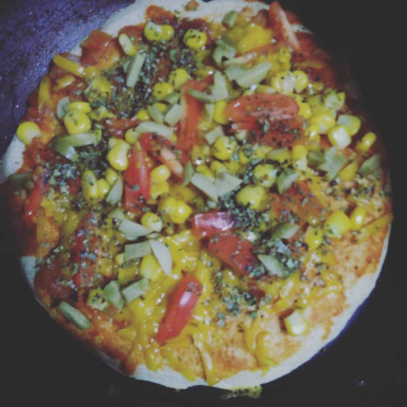 Pizza Vegana de Frigideira