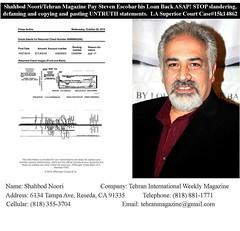 #shahbodnoori el Diablo de #Iran #Tehran maficioso mal persona que me deve Mas de $27K. El culero no me quiere pagar mi dinero que le preste. Hay me llorava piendome me dinero. Este es Un hombre que le Roba a la gente. Mi gente #Latina tengan cuidado con