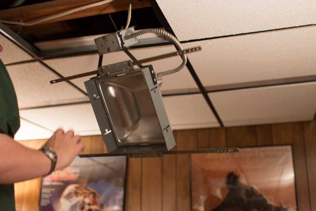 Diy recessed lighting installation in a drop ceiling ceiling tiles t mozeypictures Choice Image