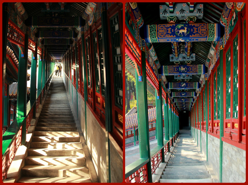 Intricately decorated corridors, Summer Palace