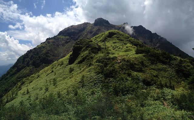 焼岳 中尾温泉ルート 焼岳展望台・山頂遠景