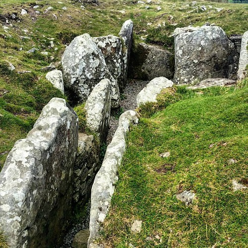 Another cairn with passage exposed. #ireland #archaeology