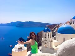 Ioanna M Cornea in Oia, Santorini island, Greece