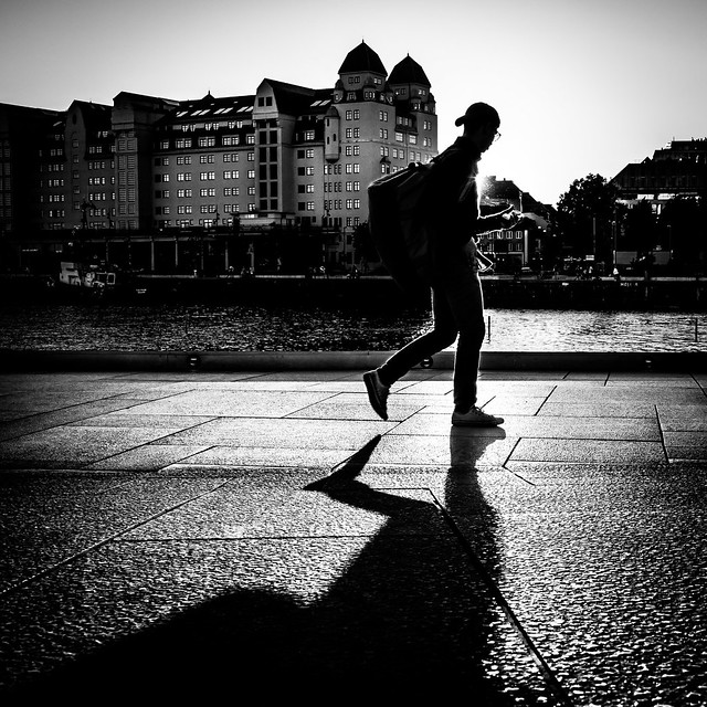 Against the sun - Oslo, Norway - Black and white street photography