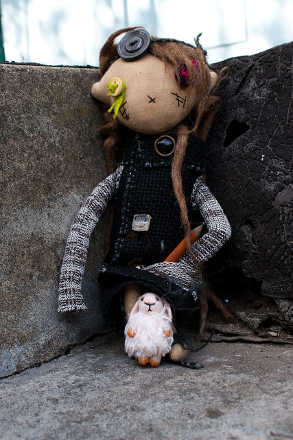 my bunny and halloween doll from Kukloferma