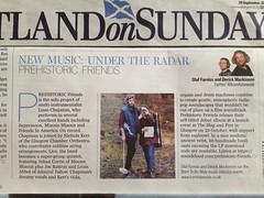 Scotland On Sunday, Prehistoric Friends