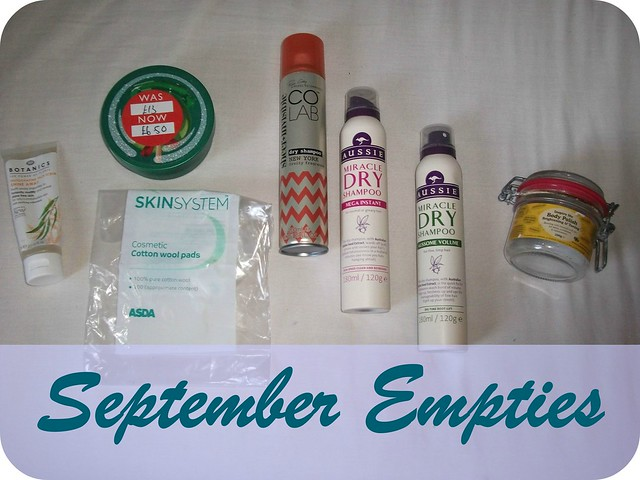 September 2015 Beauty Empties