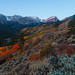 First Light on Hallet Peak with Fall Color by Matt Thalman - Valley Man Photography