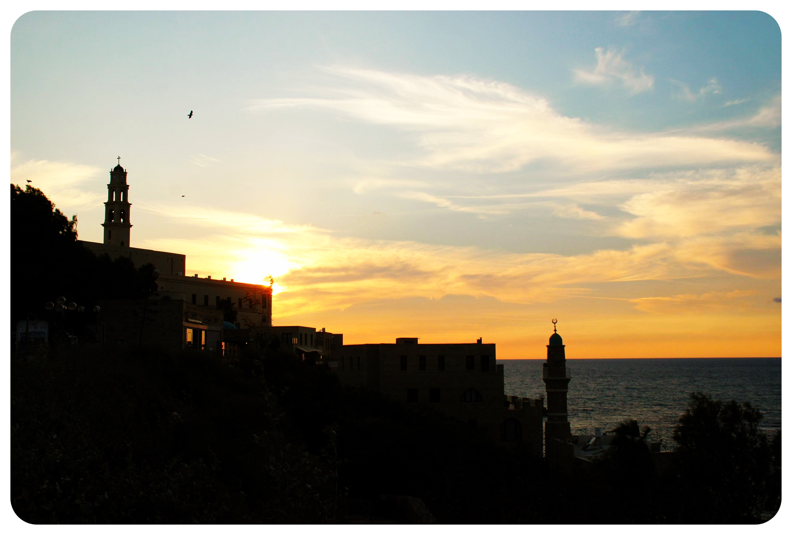 Tel aviv jaffa sunset israel