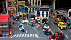 A busy morning in Lego Town