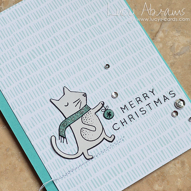 Christmas Cat by Lucy Abrams