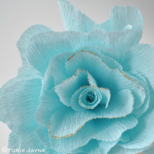Crepe Paper Rose Tutorial 17