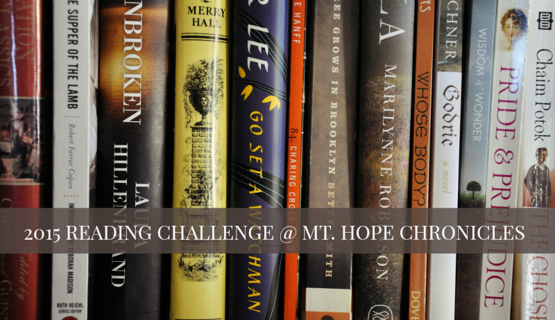 2015 Reading Challenge Conclusion @ Mt. Hope Chronicles