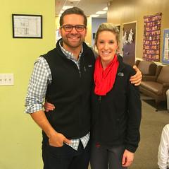 Club member Matt Johnson and his wife Madi. Matt organized the gift project again this year.