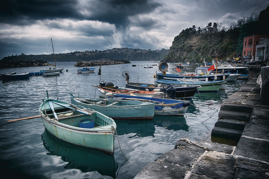 cloudy day in Procida