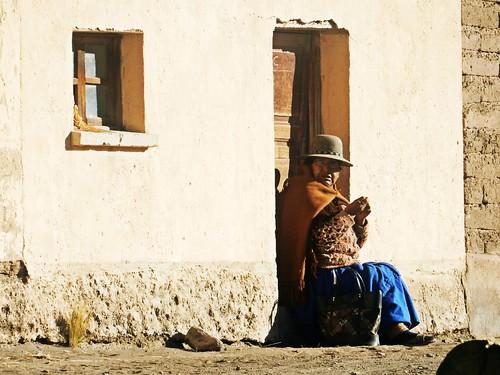 Local woman in Sajama village - Bolivia