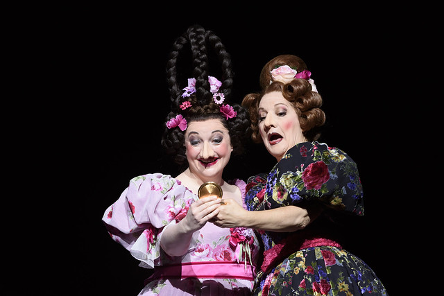 Ailish Tynan as Podtotschina's daughter and Helene Schneiderman as Pelageya Grigoryevna Podtotshina in The Nose, The Royal Opera © ROH 2016. Photo by Bill Cooper