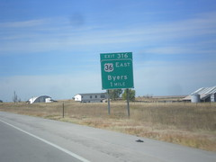 I-70 West - Exit 316