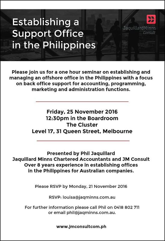 Doing Business in the Philippines Seminar 25 Nov 2016 2 w border