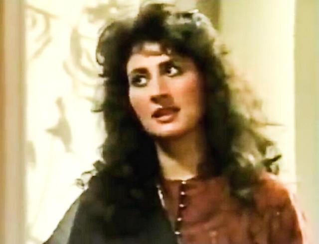 Feryal Gauhar in her classic style
