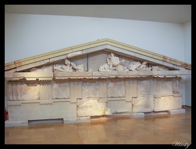 Grecia Olimpia Delfos - Frontón del Tesoro de Megara