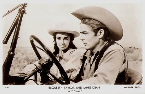 Elizabeth Taylor and James Dean in Giant (1956)