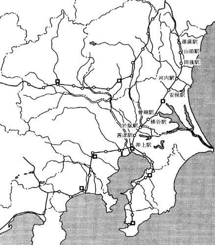 8世紀末前後の東国の駅路網