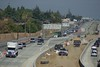 Close-up of the Contra Loma exit and eBart center work.