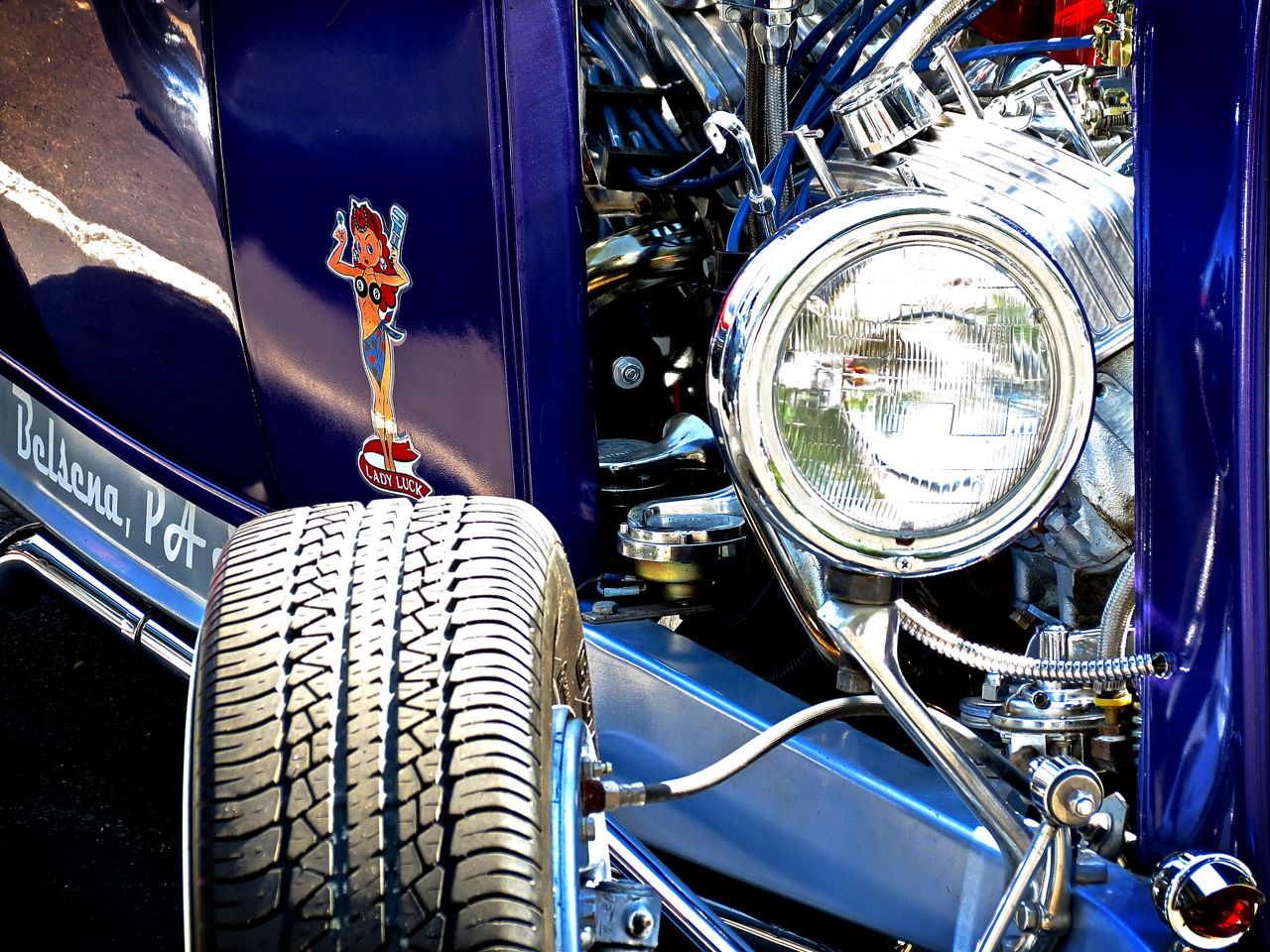 Lead East Purple Ford Hot Rod Woman