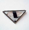 Vintage Mid-Century Modern Modernist Huge Triangle Glass Brooch