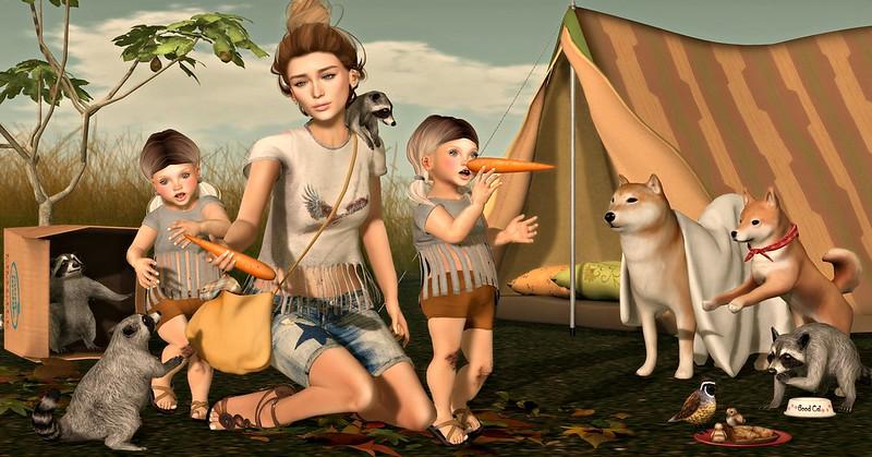 Amelie et les petites: Camping