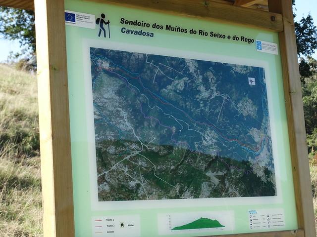 Panel Informativo del Sendeiro dos Muíños do río Seixo e do Rego Cavadosa
