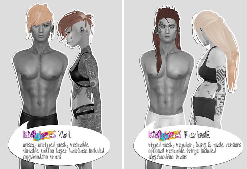 [KoKoLoReS] Hair - Val & Marlowe