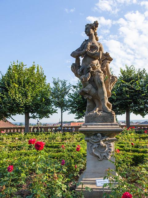 Rose Garden. Bamberg, Upper Franconia, Bavaria, Germany