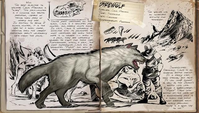ARK: Survie a évolué Dire Wolf
