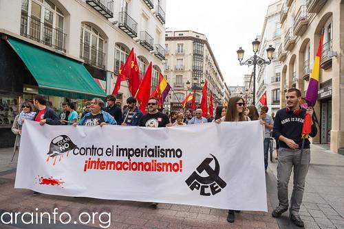 Manifestación contra la OTAN en Zaragoza. Foto: Pablo Ibáñez / AraInfo (CC BY-SA 2.0)