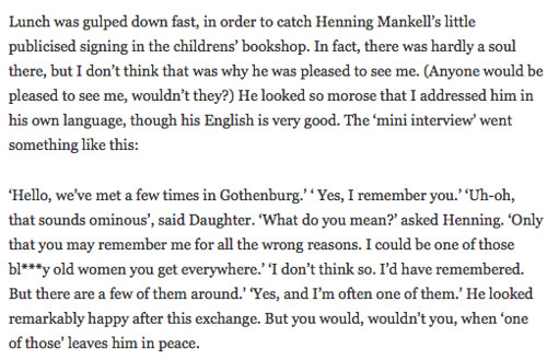 The Henning Mankell mini-interview